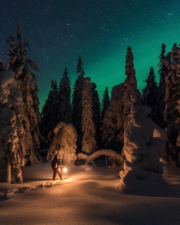 Охота на северное сияние в Карелии как правильно фотографировать