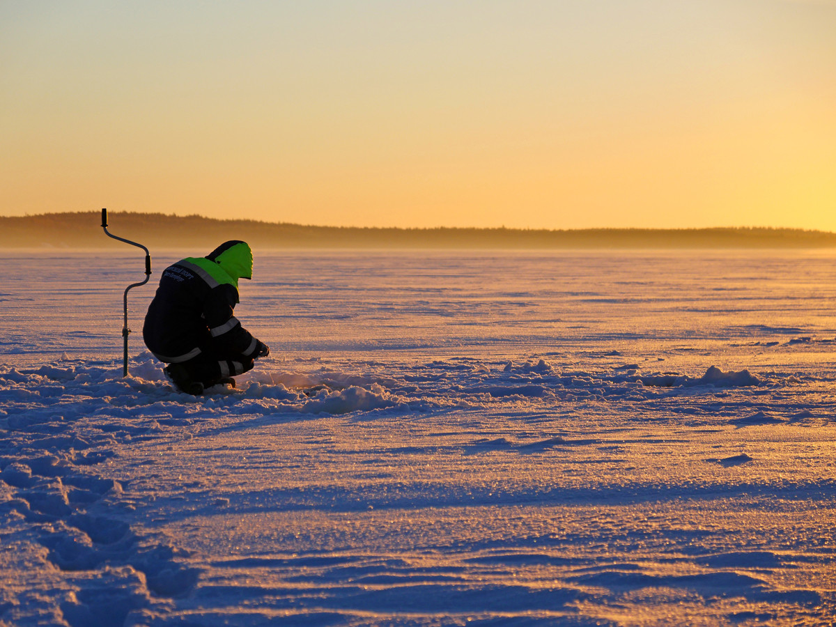 Рыбалка в Карелии зимой - мастер класс