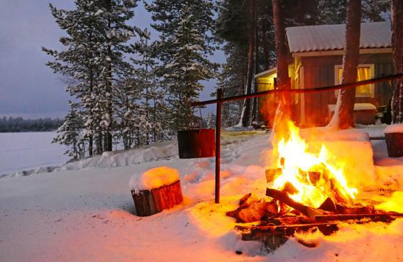 Новый год в лесной избушке