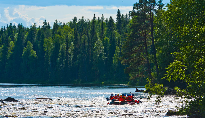 рафтинг в Карелии на реке Пистайоки