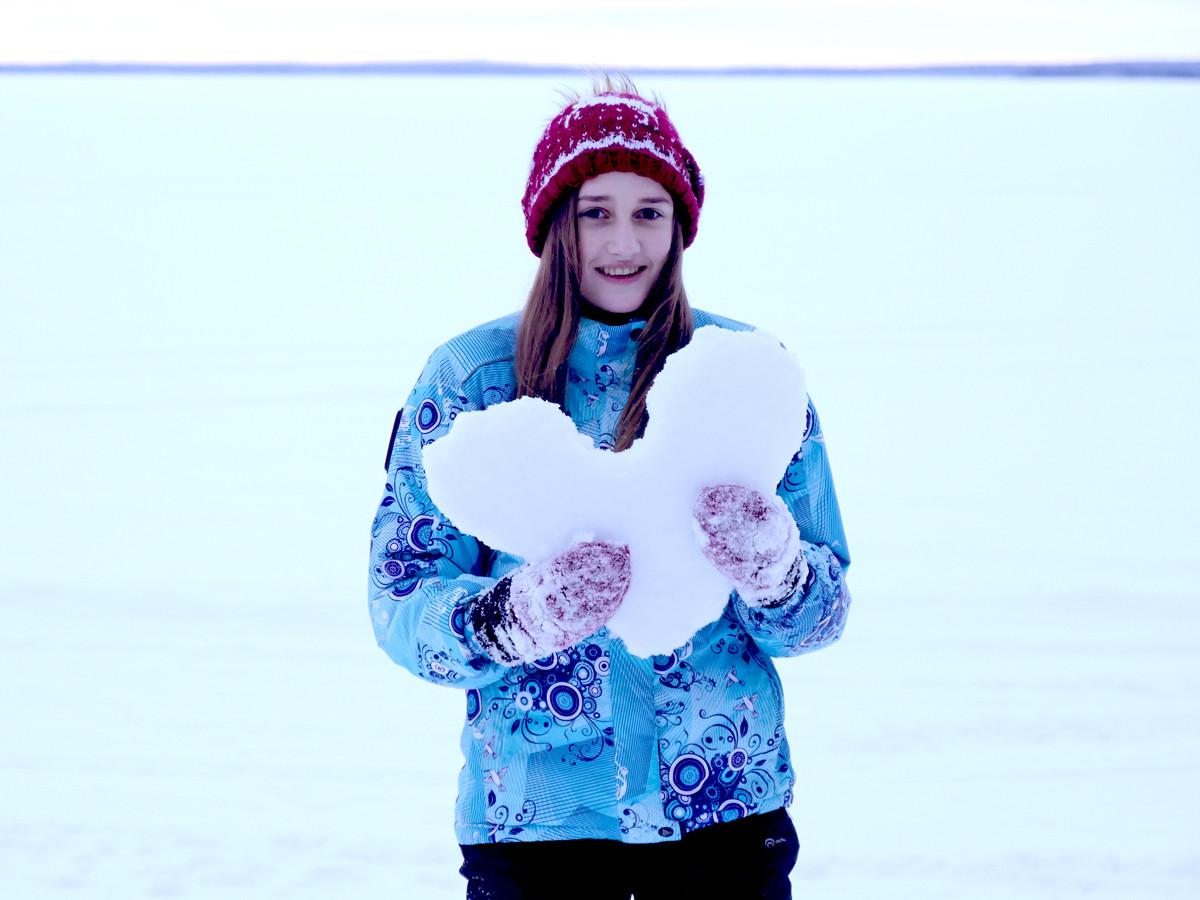 Зимой в Карелии