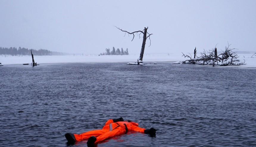 Флоатинг зимой в Карелии