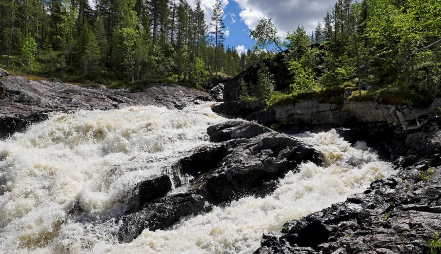 водопад Куми-порог экскурсия в Карелии