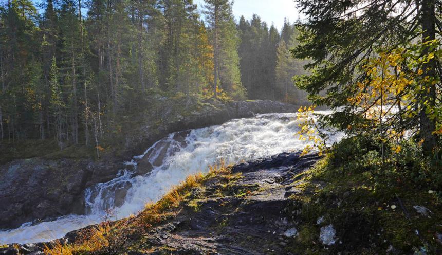 Карелия в сентябре - экскурсия на водопад Куми