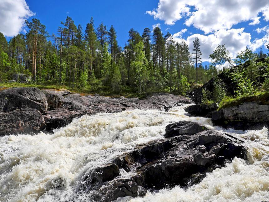 Водопад Куми: у порога затерянного мира Северной Карелии
