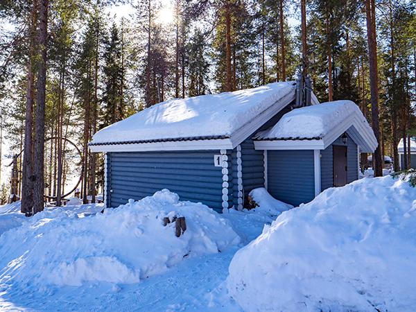 Коттеджи в Северной Карелии - коттедж стандартный зимой