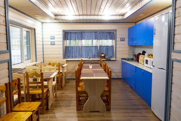 Коттедж в Карелии Полярная Звезда - кухня