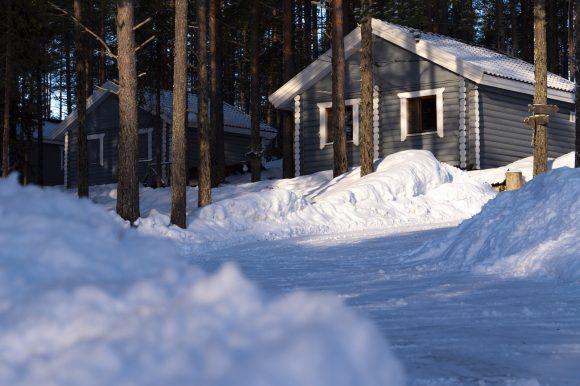 в Карелии коттеджи на турбазе ВелТ №1 зимой