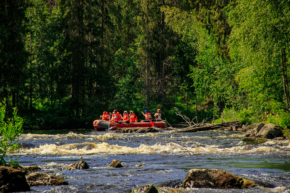 Сплав на реке Писто