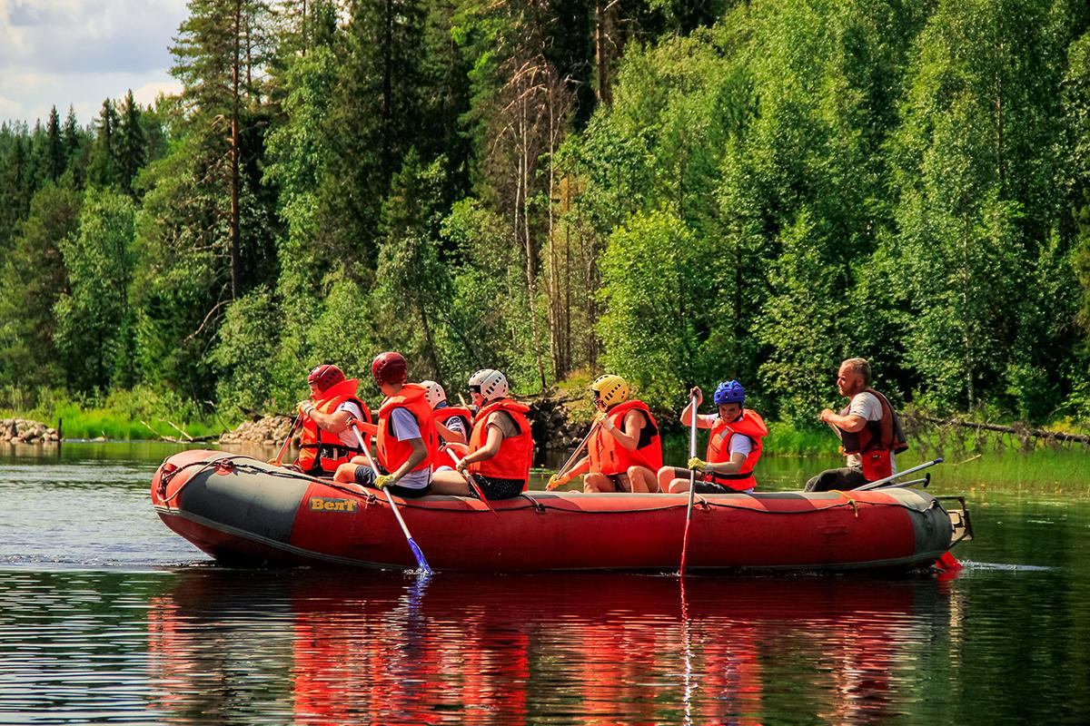 сплав по реке Пистайоки в северной Карелии
